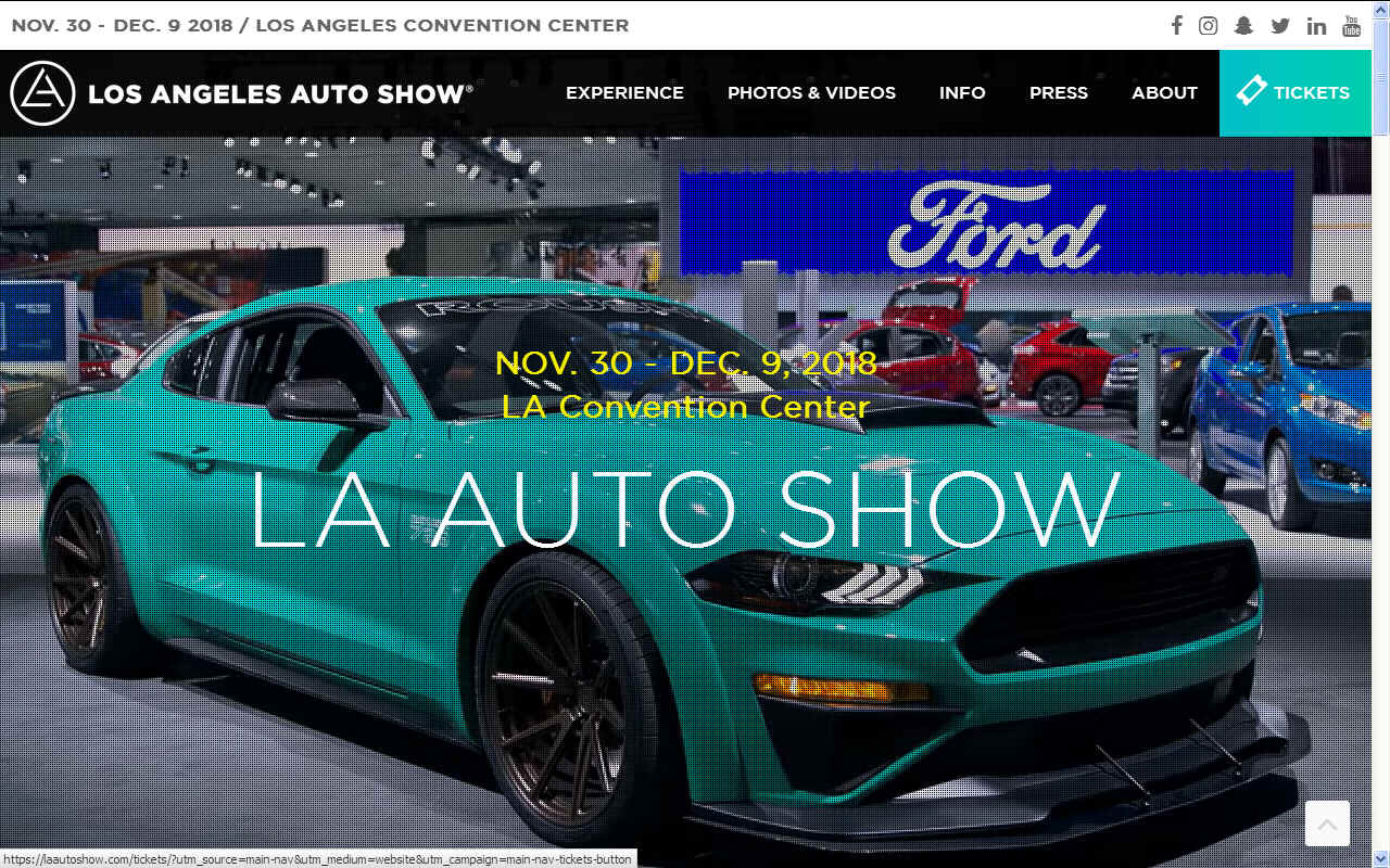 LA LOS ANGELES AUTO SHOW DECEMBER CONVENTION CENTER USA - Car show usa