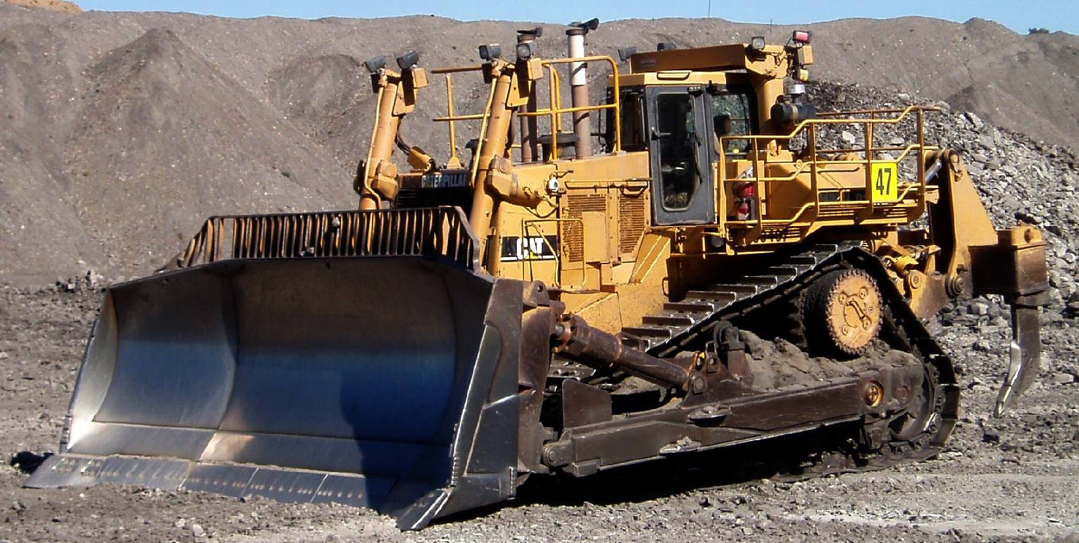 Large CAT bulldozer