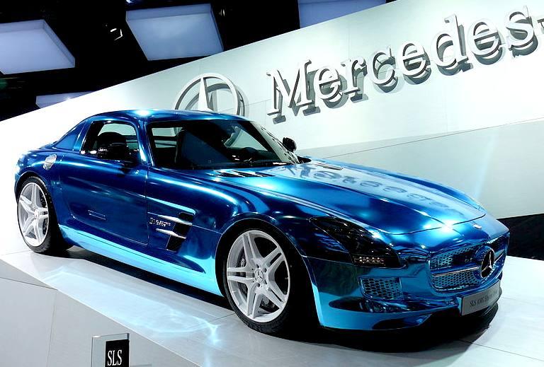 Mercedes Benz Sls Electric Gull Wing Door Car