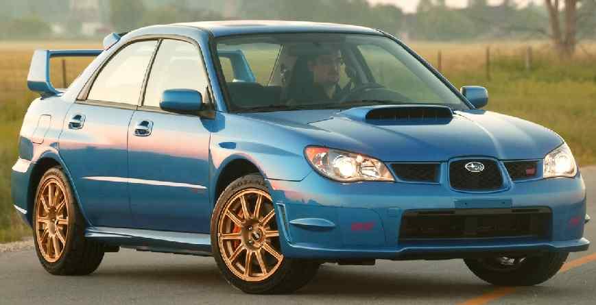 Subaru Impreza Blue Gold on 1994 Acura Integra Blue