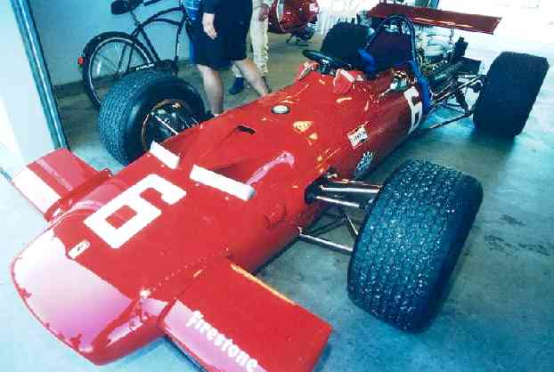 Ferrari historic formula one racing car