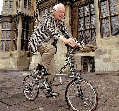 Sir Alex Moulton and his bicycle