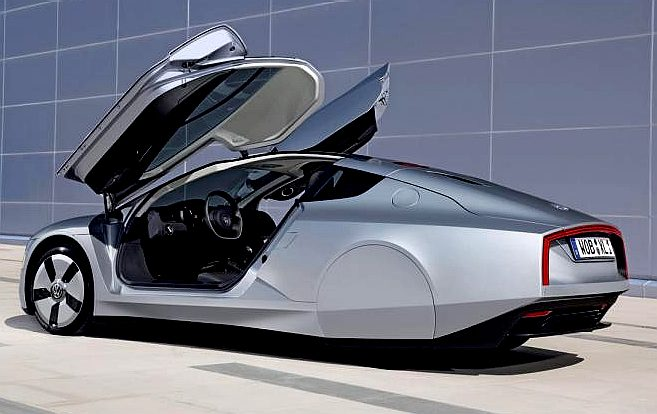 Volkswagen Hybrid Electric Concept Car Gull Wing Doors