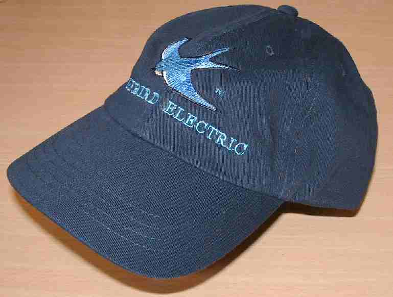 Sports cap with Blue Bird embroidery, electric vehicle Cannonball Jogle souvenir