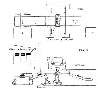 Patent GB2253379 EV electric vehicle service station forecourt