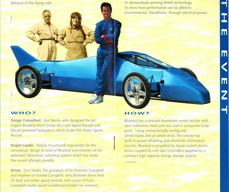 Bluebird LSR brochure from 1995-6, battery cartridge exchange refueling system