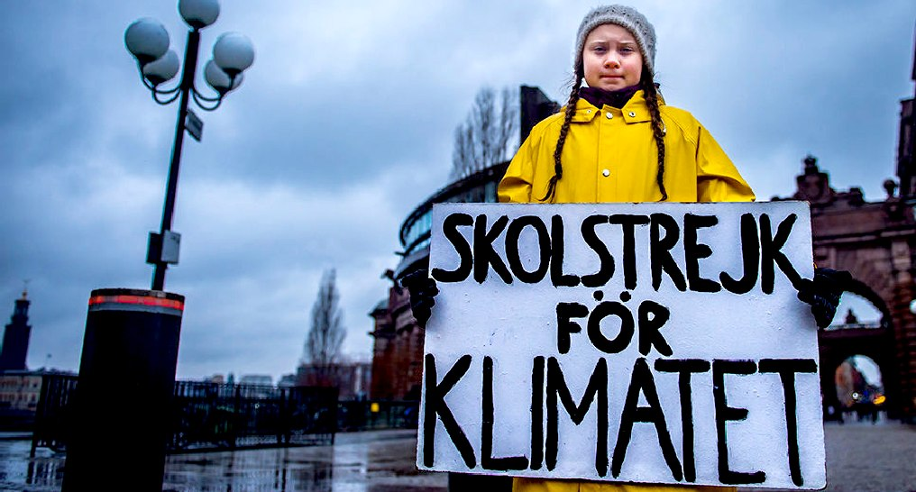 Greta Thunberg and Skolstrejk for Klimatet