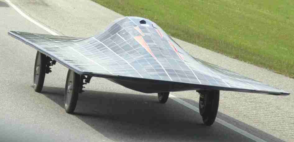 Auburn University solar powered racing car