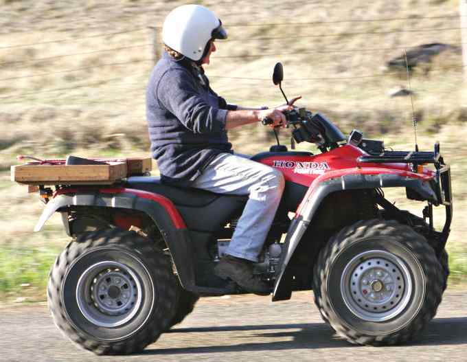 Honda 4WD ATV quad bike