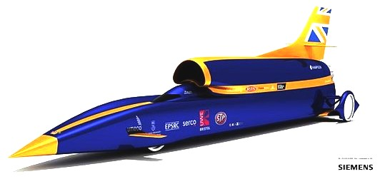 Artists impression of the Bloodhound SSC car, Siemens
