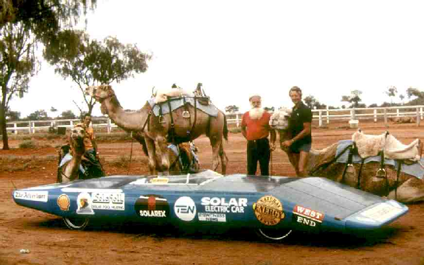 Denis Bartel and 'The Spirit of Adelaide' - Alice Springs 1986