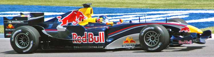 Red Bull F1 formula one racing car US Grand Prix 2005