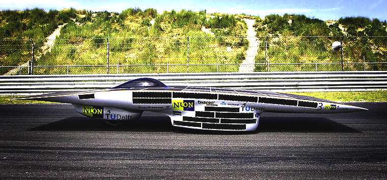 Nuna 3 at Zandvoort, World Solar Challenge racing car