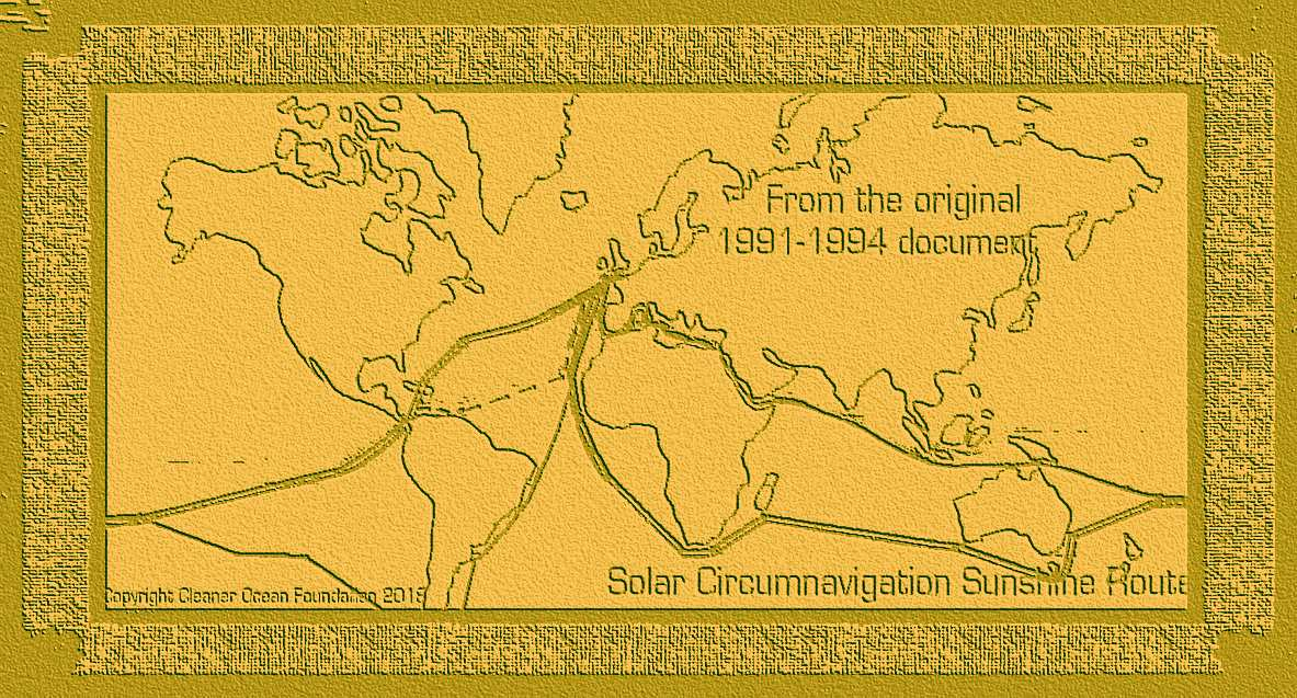 Historic solar route map dating from 1991 the sunshine route