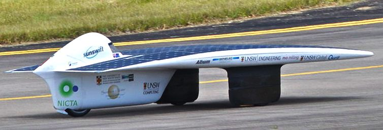 Sunswift, the fastest PV panel car UNSW