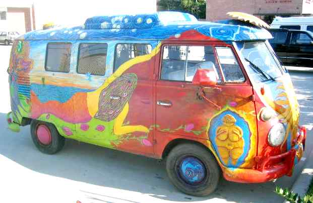 beat up combi van