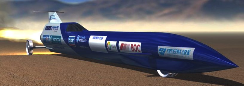 The Aussie Invader 5R supersonic land speed record rocket car