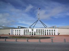 New Parliament House in Canberra was opened in 1988 replacing the provisional Parliament House building opened in 1927.