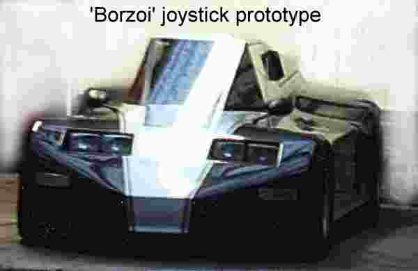 The Borzoi, prototype concept joystick controlled car