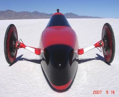 Electrathon electric world speed record car Bonneville Solat Flats 84.9 mph
