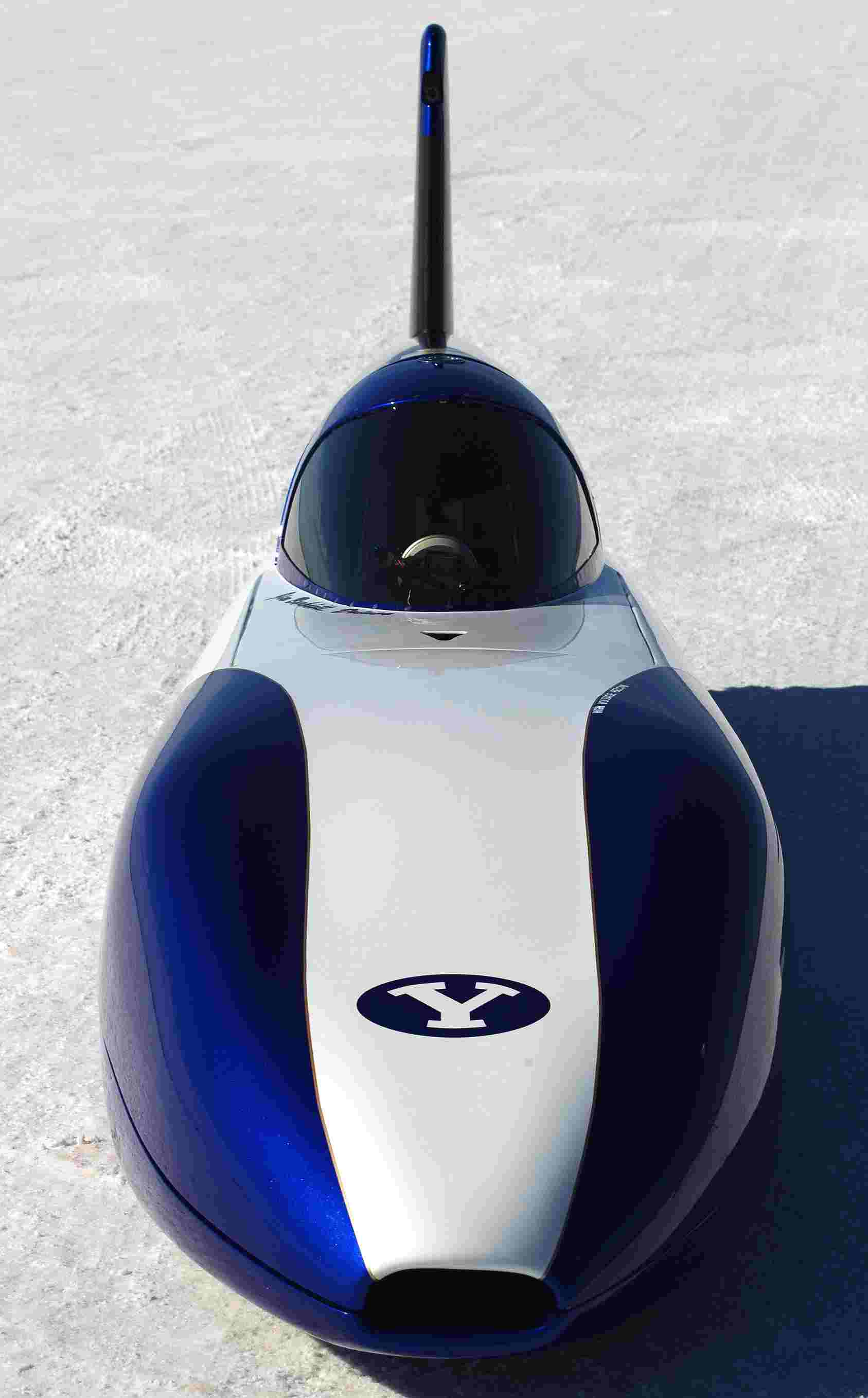 BYU electric streamliner record breaking car 155 mph 2011
