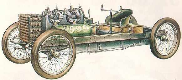 Ford Arrow LSR car 1904 diagram