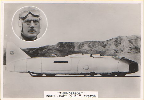 George Eyston and Thunderbolt, land speed record car