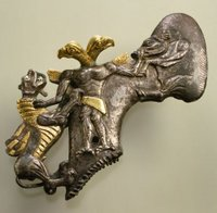 Gold and silver axe, 3rd-2nd millennium BC.