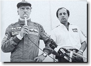 Lauda announcing retirement