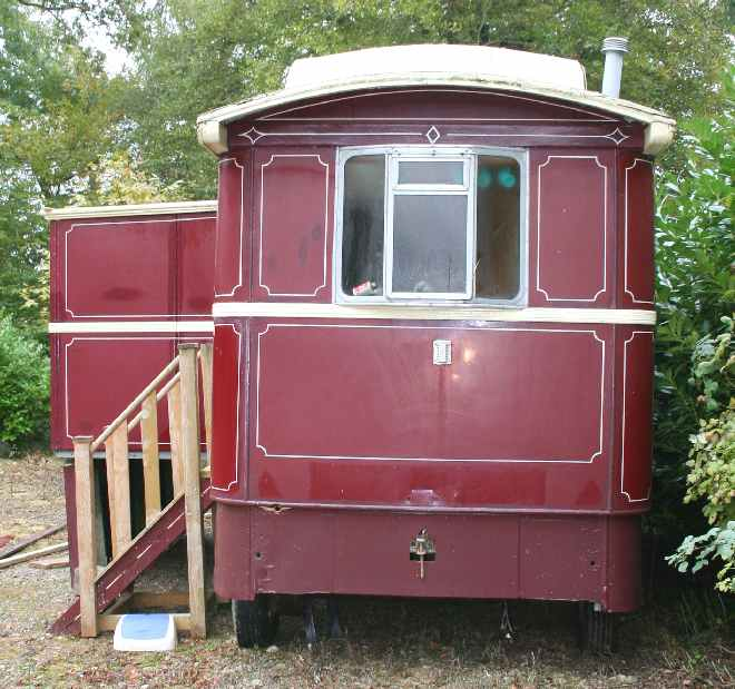 Traditional Gypsy Caravan side or end view