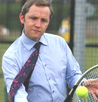 James Purnell playing tennis
