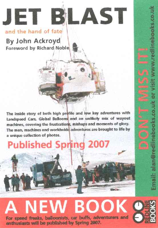Jet Blast and the Hand of Fate by John Ackroyd