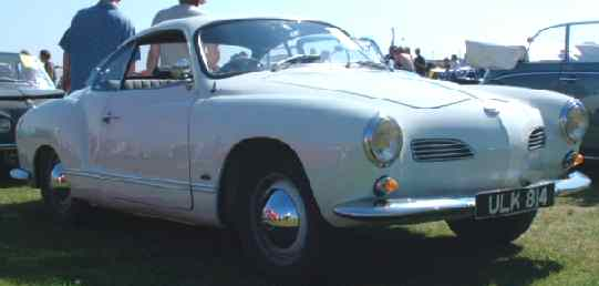 Volkswagen Karman Ghia - based on Beetle floorpan & engine