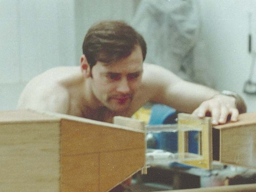 Nelson Kruschandl making his first closed loop wind tunnel wolverine model car testing