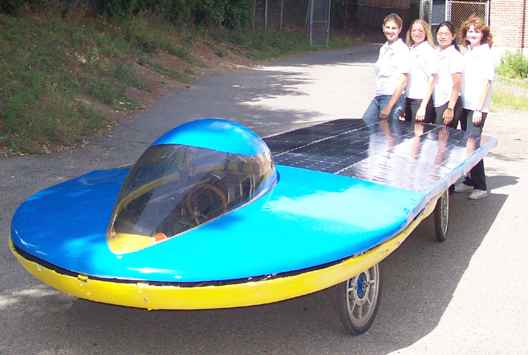 Nerd Girls super solar car
