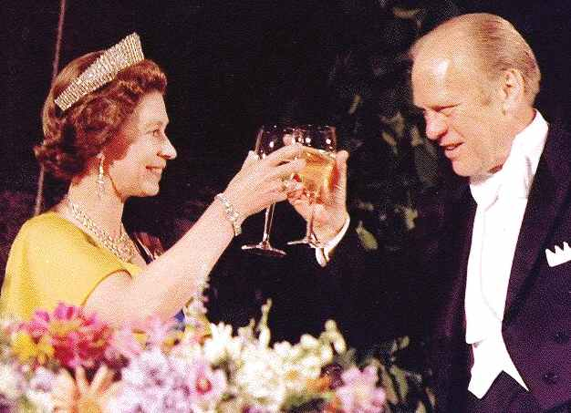 Queen Elizabeth meets President Ford