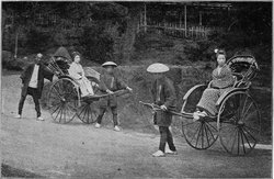 Japanese rickshaws c.1897