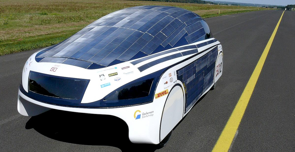 The BO solar powered electric car