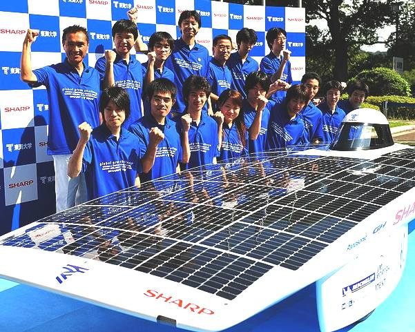 Tokai solar car team, winners Darwin to Adelaide world solar challenge