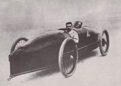 Stanley Steamer with Fred Marrit at the wheel