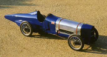 Donald Cambell's Sunbeam 350 Bluebird of 1920, now at the National Motor Museum at Beaulieu, Hampshire.