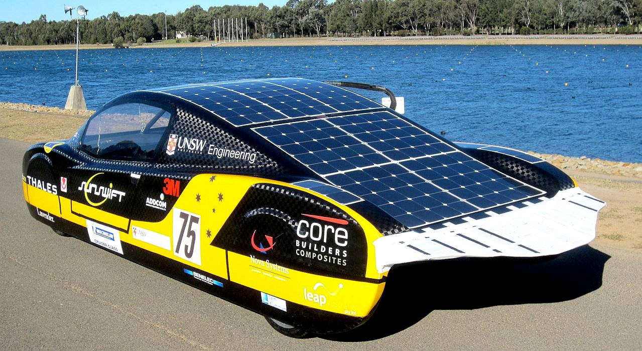 The SunSwift, and Australian solar powered car from the University of New South Wales