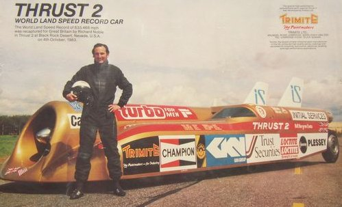 Richard Noble, the fastest man on earth 1980s, Thrust 2