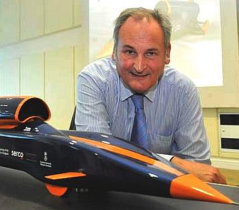 Richard Noble and Bloodhound SSC model