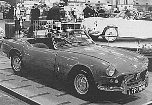 Spitfire4 at the 1962 London motor show
