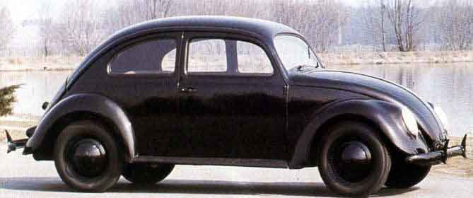 Volkswagen Beetle peoples car black 1938